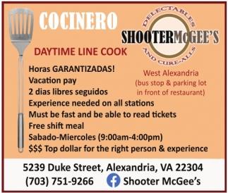 Daytime Line Cook