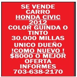 Se Vende Carro Honda Civic