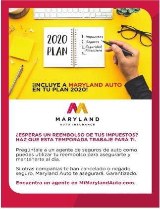 Incluye a Maryland Auto En tu Plan 2020