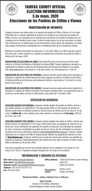 Elecciones de los Pueblos de Clifton y Vienna