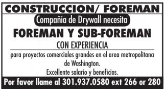 Foreman/Capataz