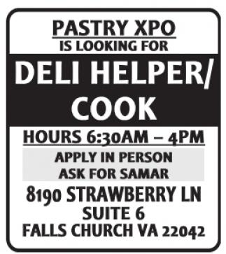Deli Helper / Cook