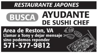 Ayudante de Sushi Chef