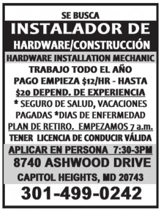 Instalador de Hardware/Contrucción