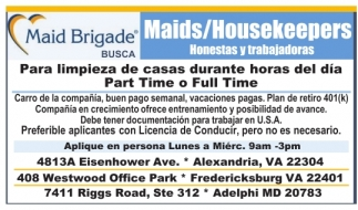 Maids / Housekeepers