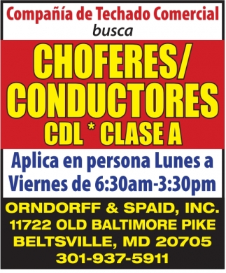 Choferes / Conductores