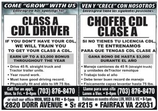 Chofer CDL Clase A