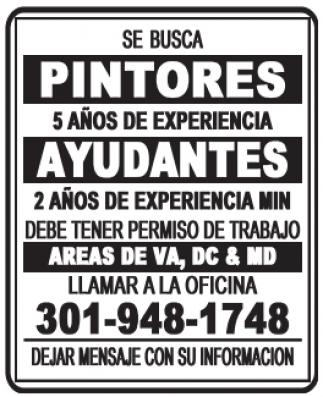 Pintores / Ayudantes