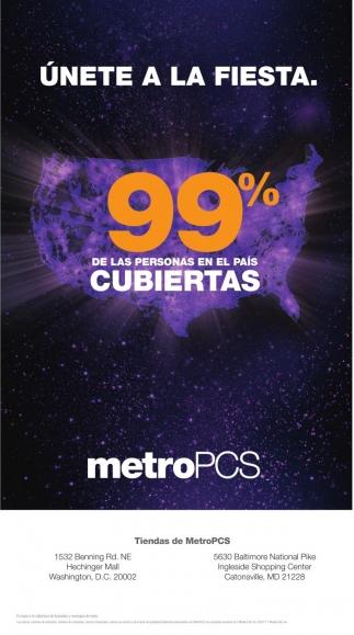 99% de las personas en el pais Cubiertas