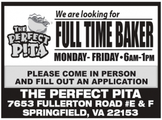 Full Time Baker