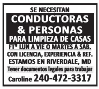 Conductoras & Personas