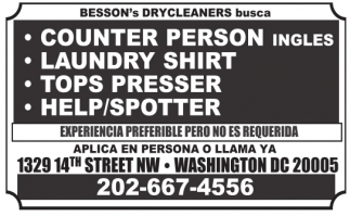 Besson's Drycleaners Busca