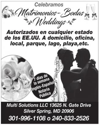 Celebramos Matrimonios-Bodas-Weddings