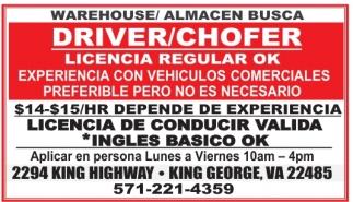 Driver/Chofer