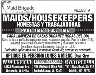 Maid/Housekeepers