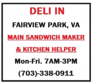 Sandwich Maker & Kitchen Help