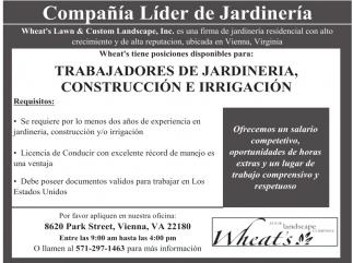 Trabajadores de Jardinería, Construcción e Irrigación