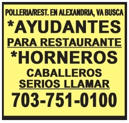 Horneros / Ayudantes