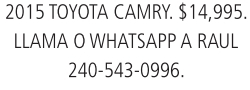 Llama o Whatsapp a Raul