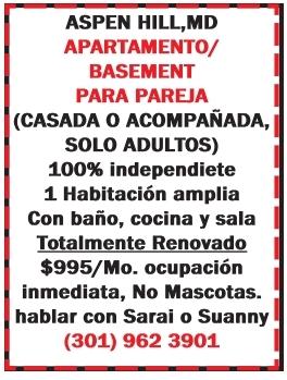 Apartamento/basement Para Pareja