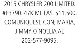 Comuniquese con Maria, Jimmy o Noelia
