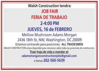 Job Fair - Feria de Trabajo