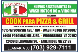 Cook para Pizza and Grill