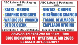 Experience And English Needed