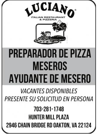 Italian Restaurant And Pizzeria