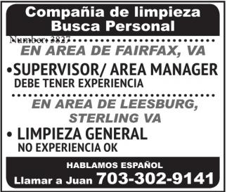 Compañia De Limpieza Busca Personal