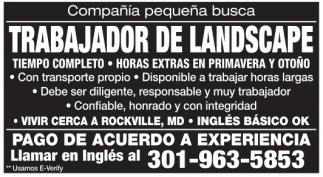 Trabajador de Landscape