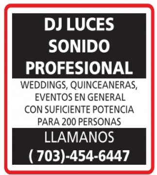DJ Luces Sonido Profesional