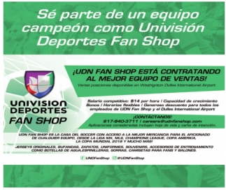 Se Parte De Un Equipo Campeón Como Univision Deportes Fan Shop
