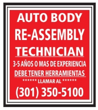 Auto Body Re-Assembly Technician
