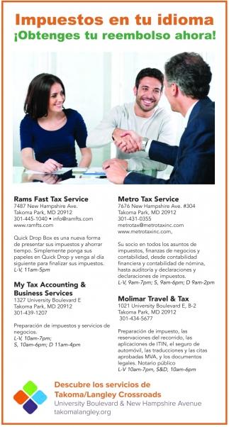 Impuestos en tu idioma