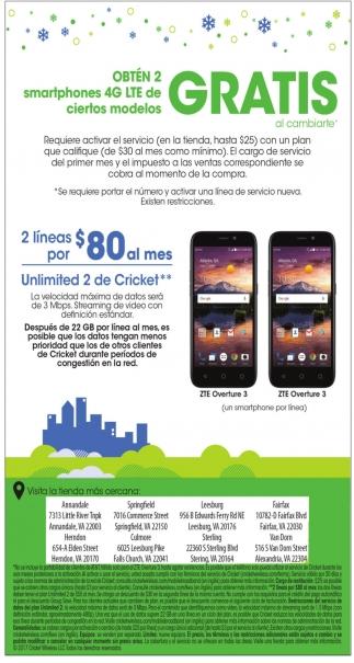 Obten 2 Smartphones Gratis Al Cambiarte